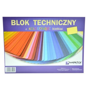 Blok techniczny A3 Titanum kolorowy