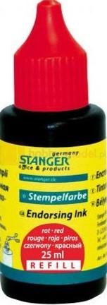 Tusz do stempli Stanger 25ml czerwony