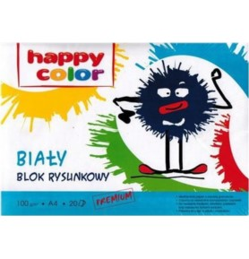 Blok rysunkowy Happy Color A4/20k 100g