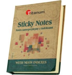 Notatnik samoprzylepny z indeksami Titanum