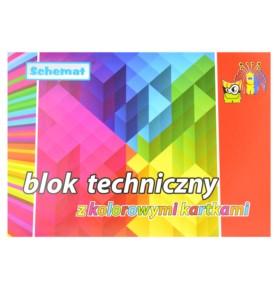 Blok techniczny Schemat A4/10 kolorowych kartek
