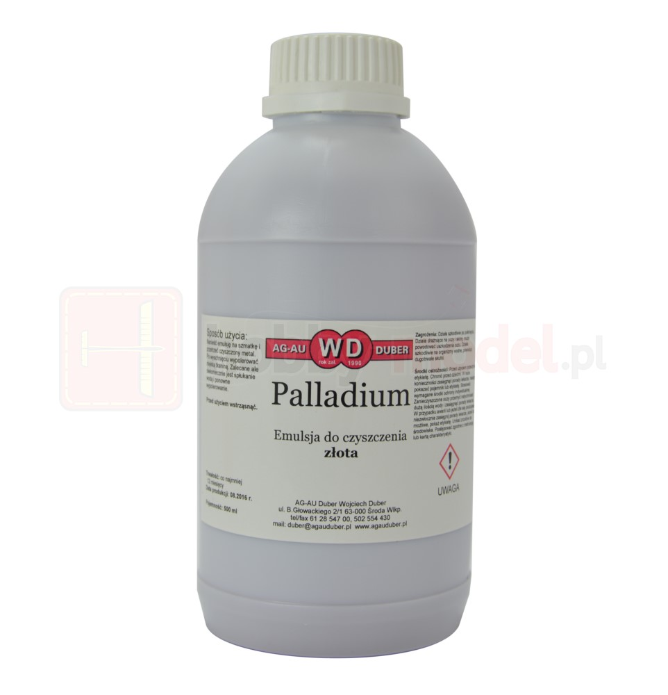 Palladium - płyn do czyszczenia i nabłyszczania złota 500ml