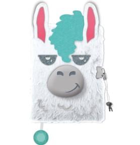 Pamiętnik z kłódką włochacz 3D Lama