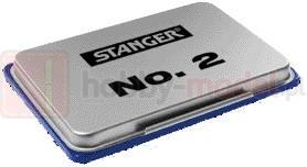 Poduszka do stempli metalowa Stanger 7x11cm niebieska