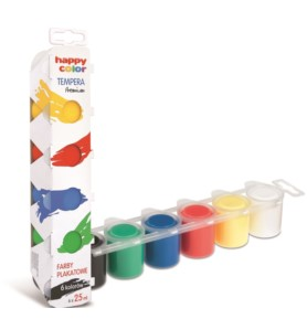 Farby plakatowe Happy Color Tempera Premium 6x25ml