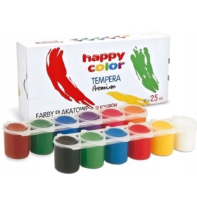Farby plakatowe Happy Color Tempera Premium 12x25ml
