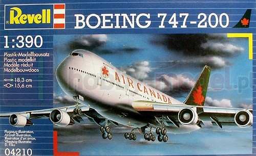 REVELL 04210 Samolot pasażerski Boeing 747