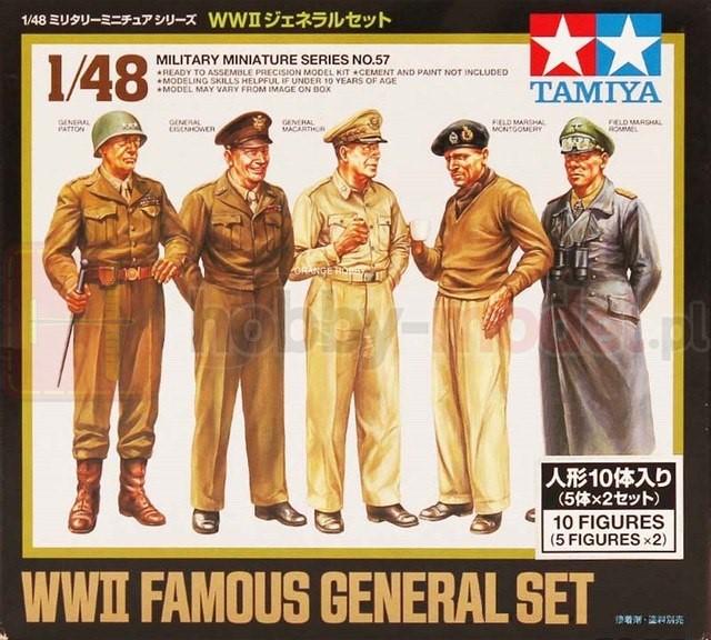 TAMIYA 32557 Figurki znanych postaci wojskowych z WWII