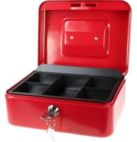 Kasetka metalowa czerwona Titanum 200x160x90