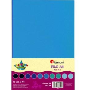 Filc dekoracyjny Titanum A4/2mm 10 sztuk niebieski
