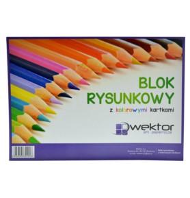 Blok rysunkowy A4 Titanum kolorowy