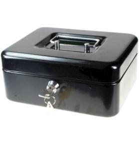 Kasetka metalowa czarna Titanum 200x160x90