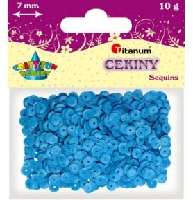 Cekiny okrągłe niebieskie pastelowe Titanum 10g x 7mm