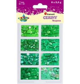 Cekiny zielone Titanum 8 x 2,5g