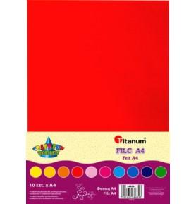 Filc dekoracyjny Titanum A4/2mm mix 10 kolorów