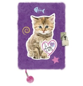Pamiętnik z kłódką włochacz Kot