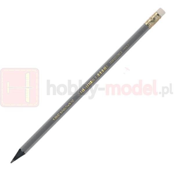 Ołówek BIC Evolution czarny HB (z gumką)