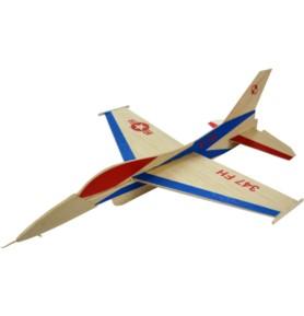 Samolot sylwetkowy do startu z wyrzutni gumowej F-16