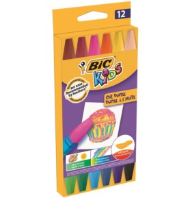 Pastele olejne BIC KIDS 12 kolorów
